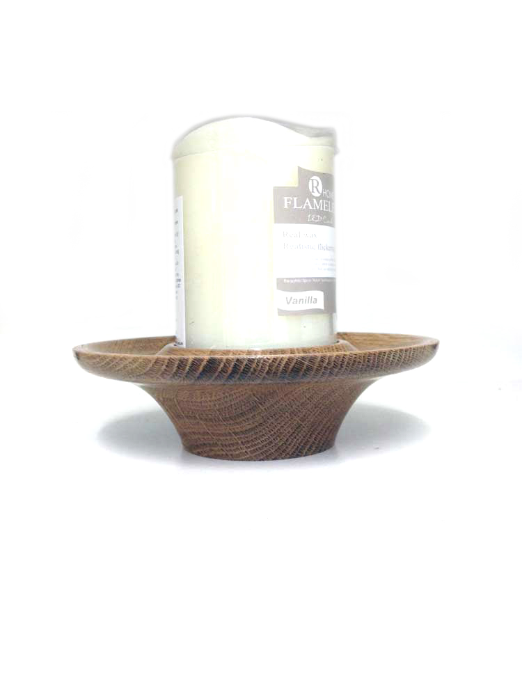 Oak-and-candle-platter