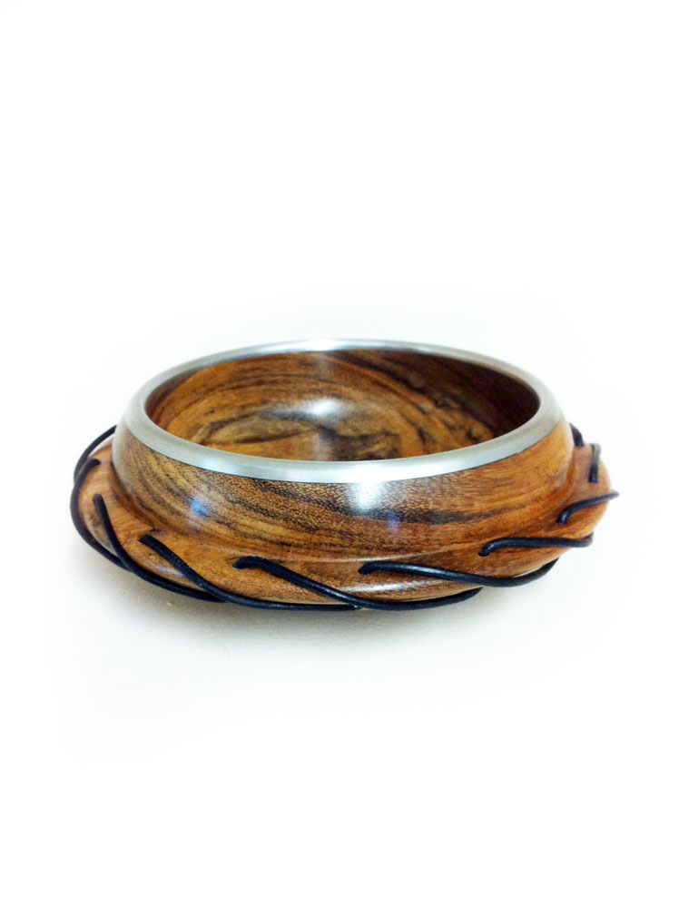 Ovangkol-bowl-with-pewter-rim-and-leather-lacing