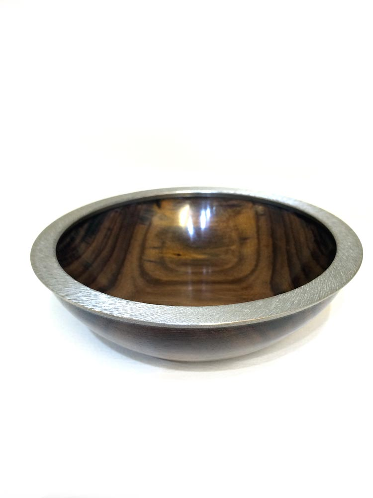 Rosewood-sonokelling-bowl-with-textured-pewter-rim