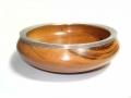 Goncalo-Alves-Bowl-with-textured-Pewter-rim