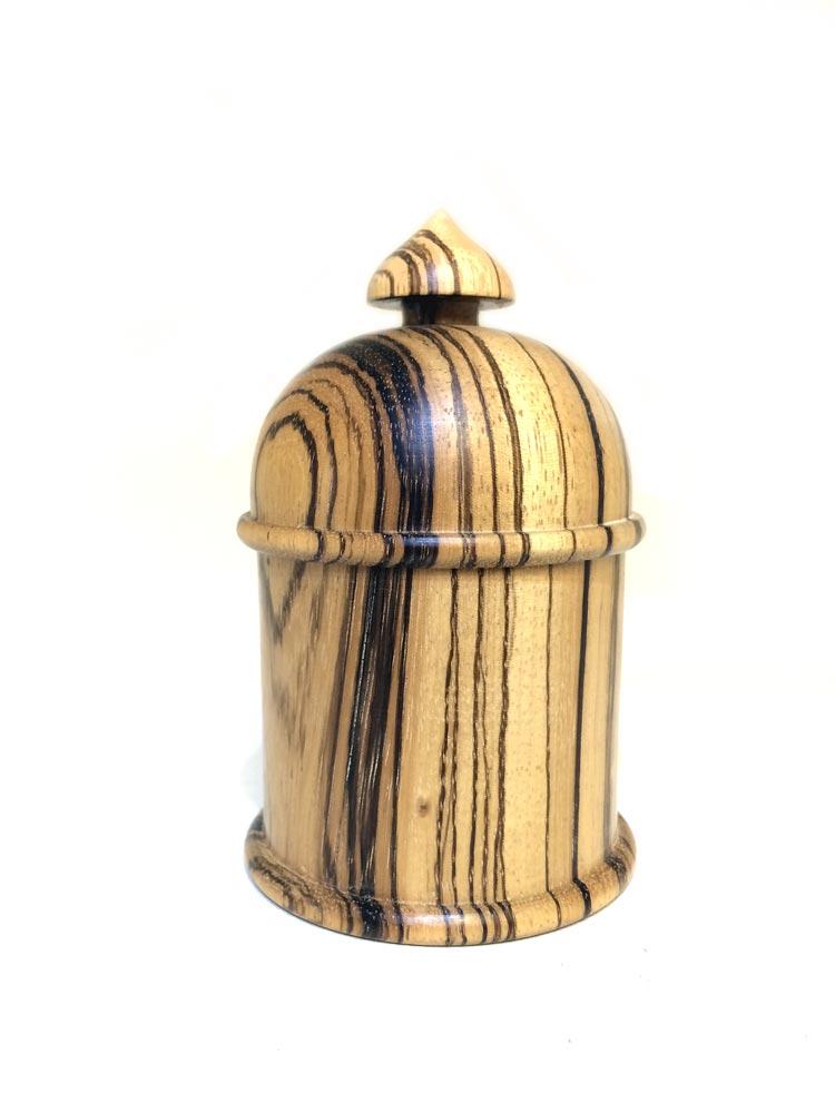 Zebrano-domed-lided-pot