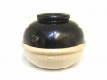 African-Blackwood-and-Sycamore-small-round-pot